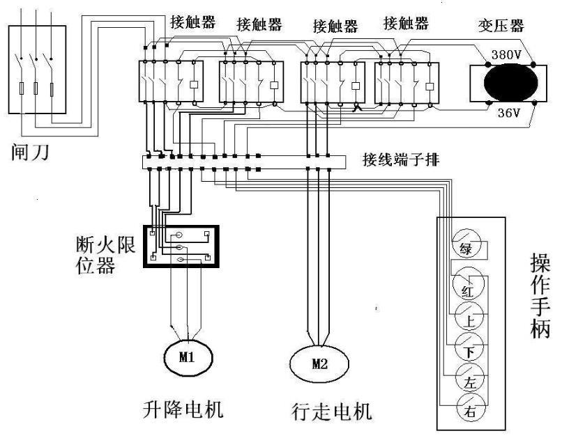 德马格电动葫芦电路接线图